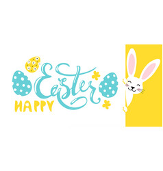 modern easter banner happy easter wish decorated vector image
