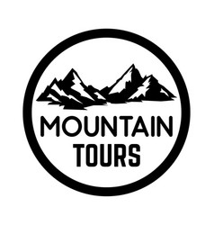mountain tourism emblem design element for logo vector image