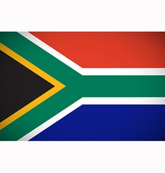 national flag south africa vector image