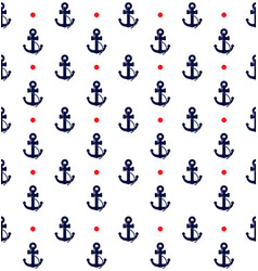 nautical anchor pattern with polka dots vector image