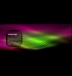 neon glowing techno lines hi-tech futuristic vector image