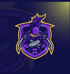 ninja warrior mascot vector image