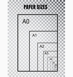 Paper size series a isolated on transparent vector