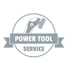 Power tool car logo simple gray style vector