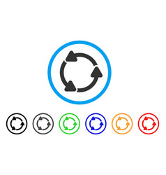 rotate ccw rounded icon vector image