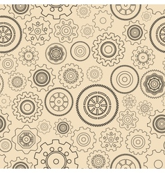 Seamless gear wheels pattern vector