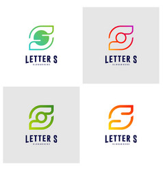 set of letter s logo icon design concepts initial vector image