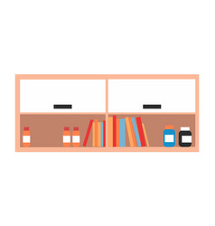 Shelves for storing documents and medical vector
