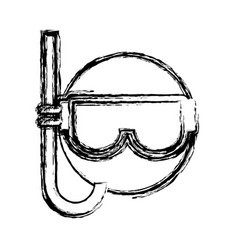 snorkel mask icon vector image