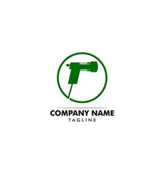 Spray foam insulation icon logo vector