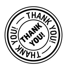 Thank you stamp on white vector