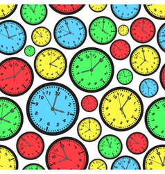 Time zones color clock seamless pattern eps10 vector