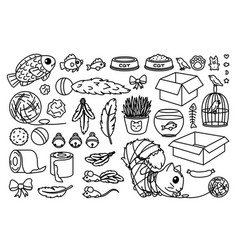 toys set for cats vector image