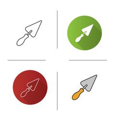 triangular shovel icon vector image