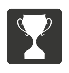 trophy award isolated icon vector image