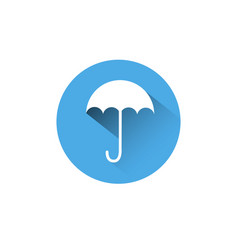 umbrella icon blue round on white background vector image