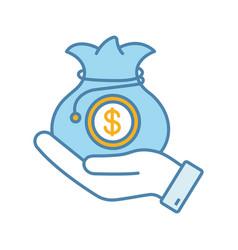 Venture capital color icon vector