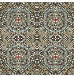 Vintage tiles onamental pattern vector
