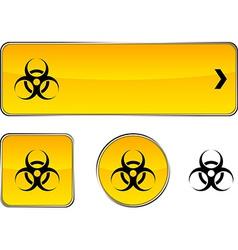 Virus button set vector