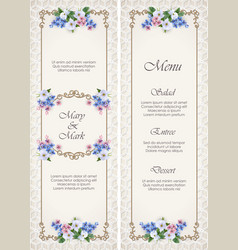 Wedding decorative frame vector