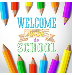 Welcome back to school hand-drawn greeting with vector