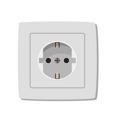 White electric socket vector