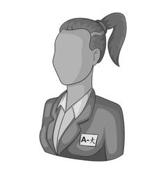 Woman translator of languages icon vector