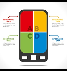 creative mobile info-graphics design concept vector image