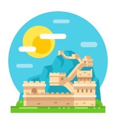 Great wall of China flat design vector image