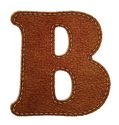 Leather textured letter B vector image