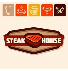 steak house vector image vector image