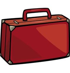suitcase clip art cartoon vector image vector image