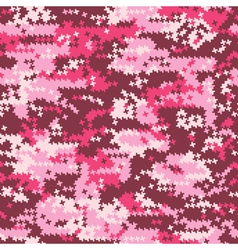 Camouflage pink houndstooth vector image vector image