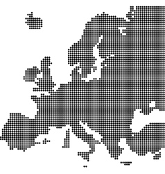 Dotted map of Europe vector image vector image