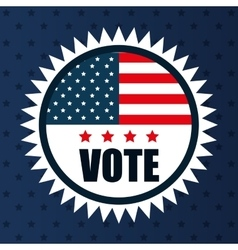 icon flag vote usa election graphic vector image