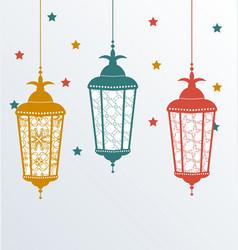 Intricate Arabic lamps for Ramadan Kareem vector image vector image