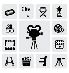 movie icon vector image vector image