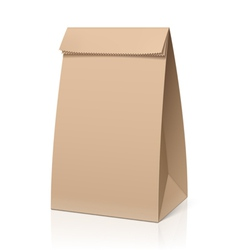 Recycle brown paper bag vector image vector image