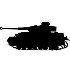 tiger german silhouette tank of world war 2 vector image