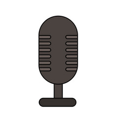 white background with desk microphone of fixed vector image vector image