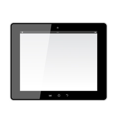 Realistic Tablet PC With Blank Screen vector image vector image