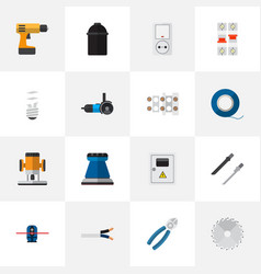 Set of 16 editable instruments icons includes vector