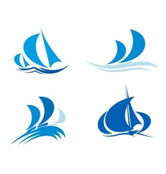Yachts and boats on regatta vector image