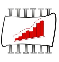 3D of business chart vector image vector image
