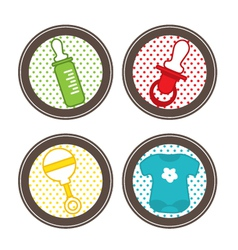 Baby stickers collection vector image vector image