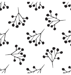 Black and white hand drawn abstract pattern vector image vector image