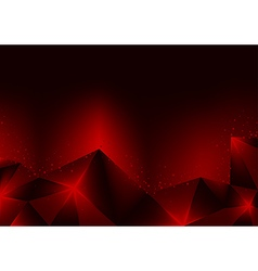 Burning Red Crystals vector image vector image