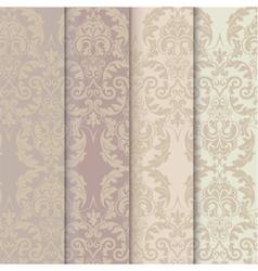 Damask Vintage Ornaments Pattern set vector image vector image