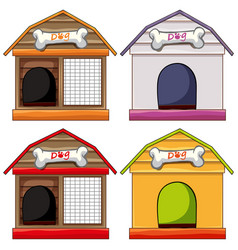 different designs of doghouses vector image