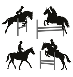 Equestrian sports set 2 vector image vector image